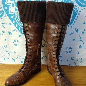 Cole Haan Collab w Nike Air Tall Brown Boots 6B